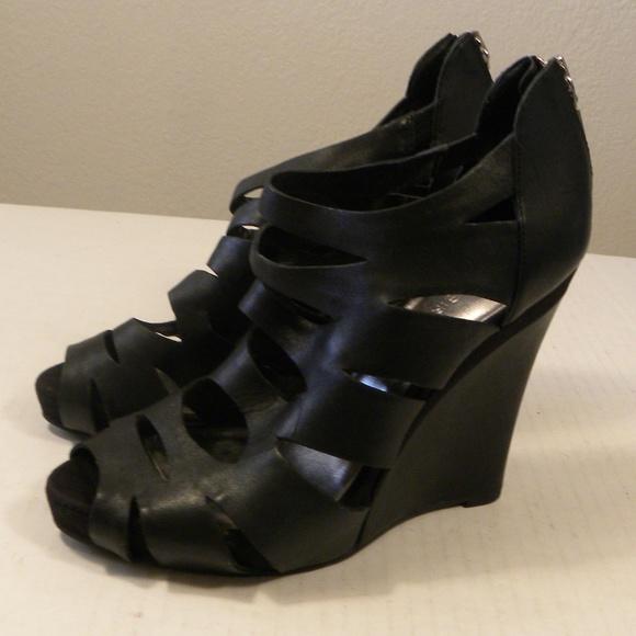92451e9fedc BCBGirls Shoes - BCBG Girls Cut Out Boot 8.5 M  39 EU Black Wedges